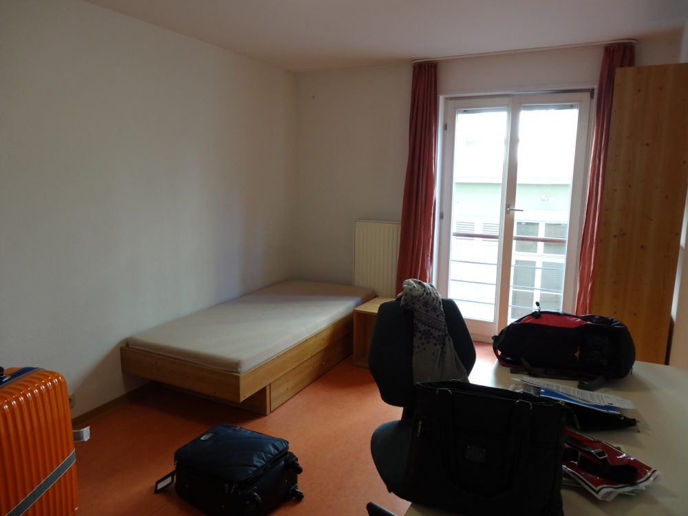 My room on the first day