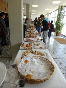 Brunch buffet on our last day of class
