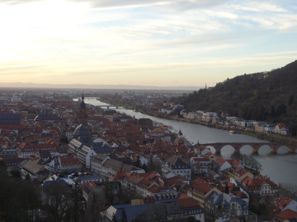 Heidelberg's old town viewed from the castle