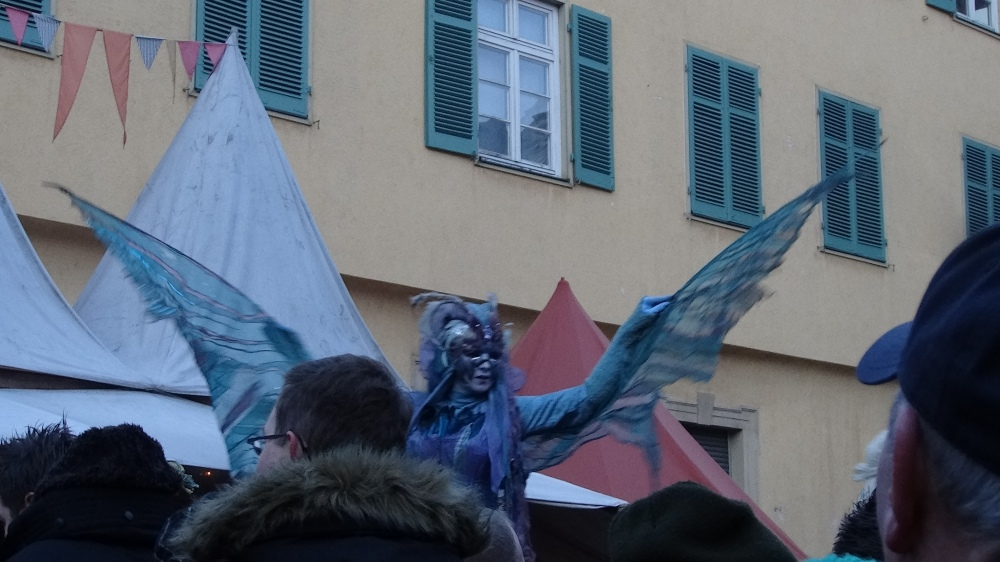 Butterfly lady/ fairy at the parade.