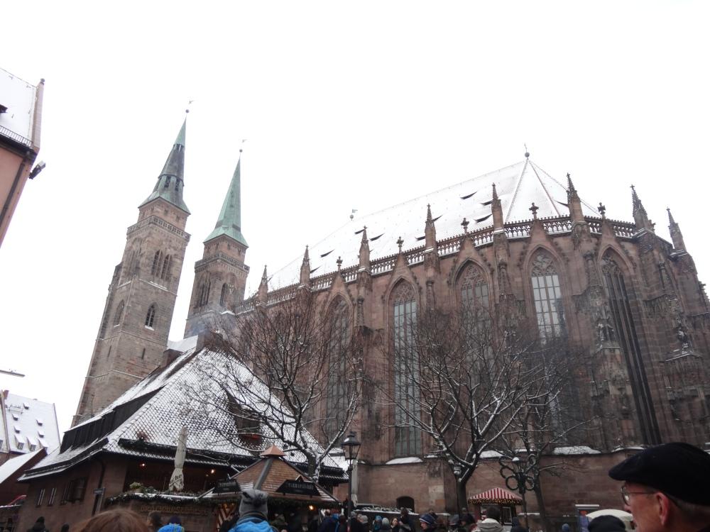 Sebalduskirche (St. Sebaldus Church) is right in front of the international market