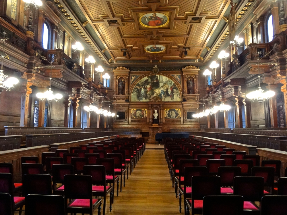 The Alte Aula, or old lecture hall, can be found in the historical building of the Alten Universität (Old University). We have special lectures and sometimes concerts here