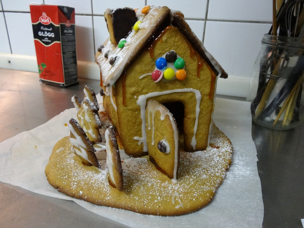 Gingerbread house made by Krista and her friends.