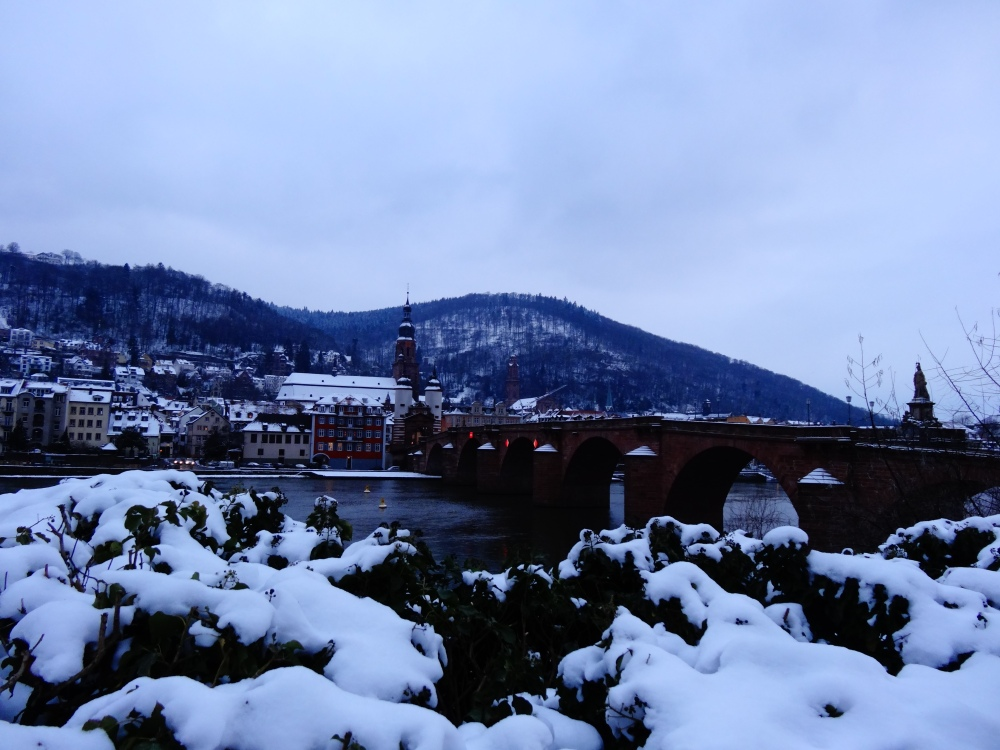 Heidelberg covered in snow in the month of exams.
