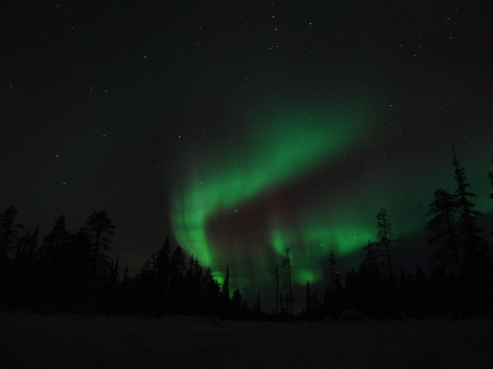 Aurora borealis, Kiruna, Sweden.