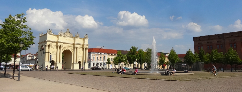 Brandenburger Tor on the Luisenplatz in Potsdam