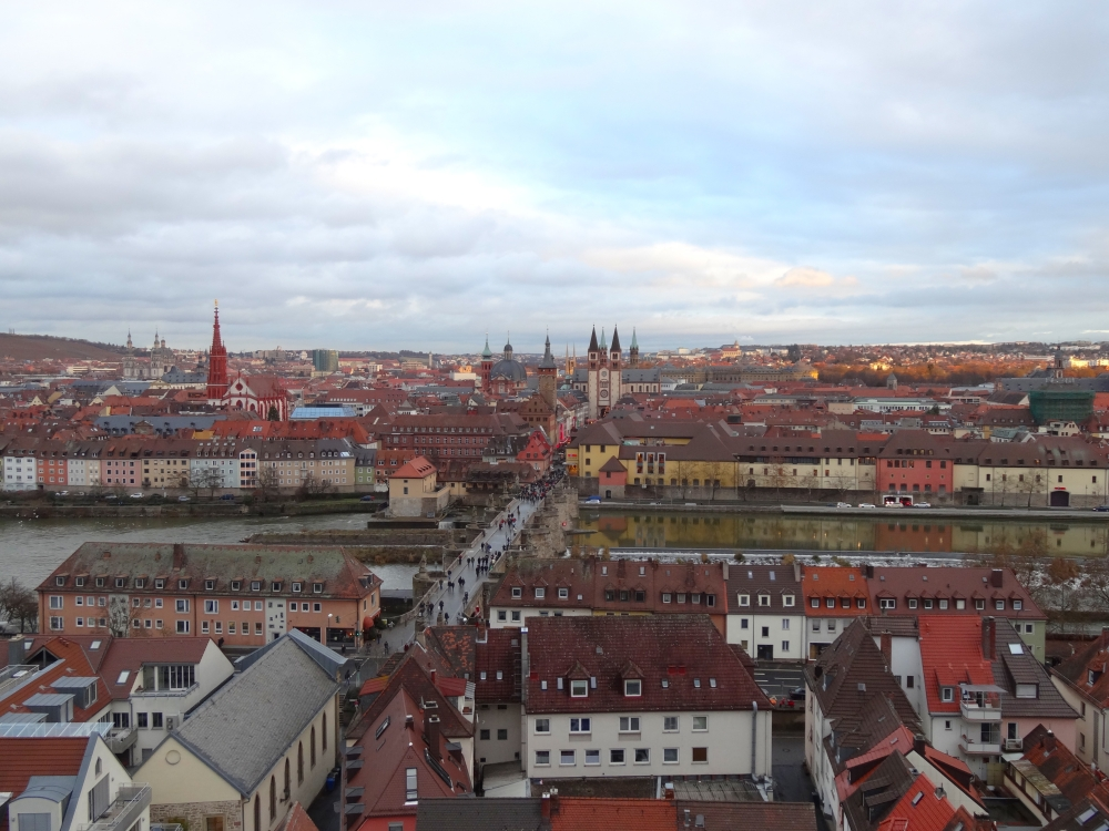 View of Würzburg from Festung Marienberg