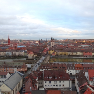 View of Würzburg from Festung Marienberg