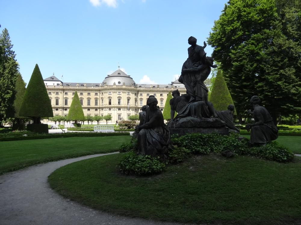 Würzburg Schloss und Schlossgarten