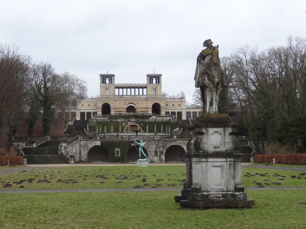 This  Orangerieschloss (Orangerie castle) was built in the 19th century.