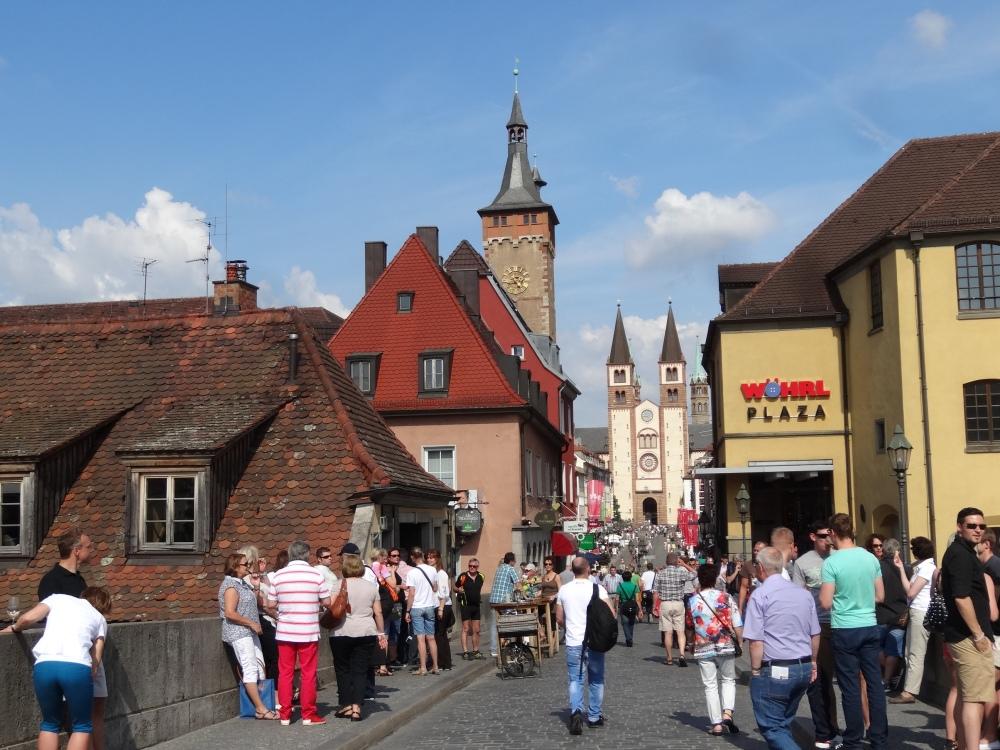 Altstadt from the old bridge.