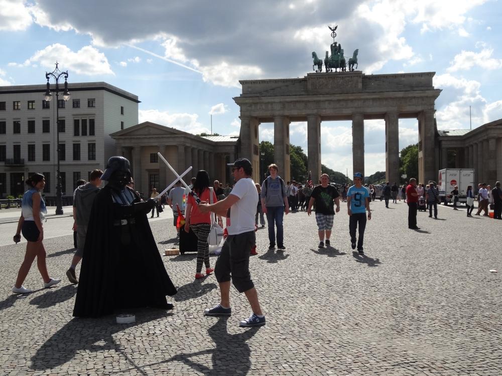 Darth Vader has been to Brandenburg Gate!