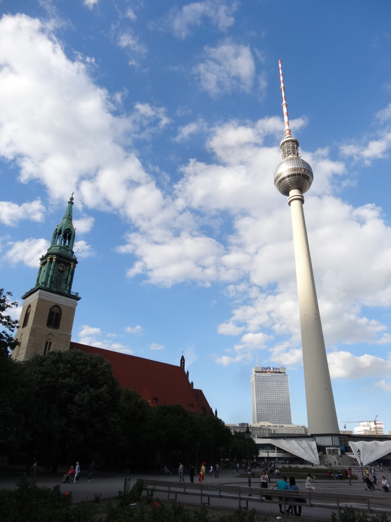 Marienkirche (St. Mary's Church) and Berliner Fernsehturm (TV Tower)