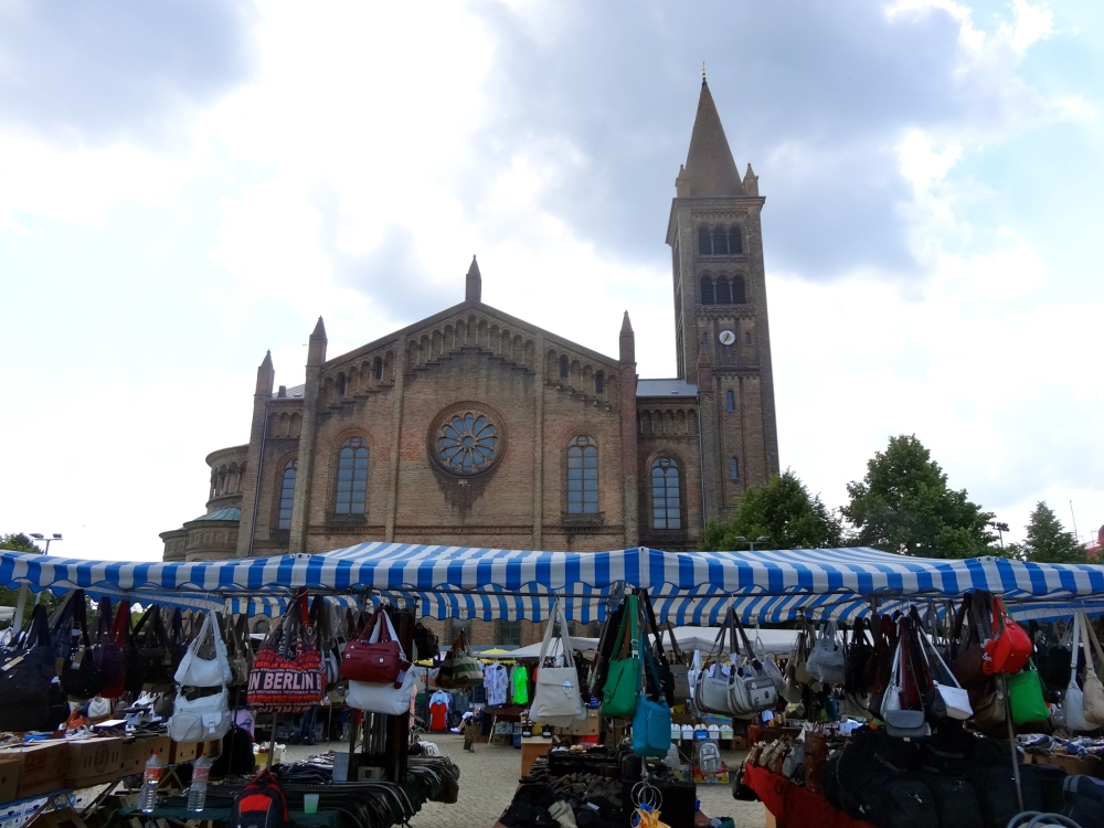 Peter-und-Paul Kirche and flea market on Wednesdays