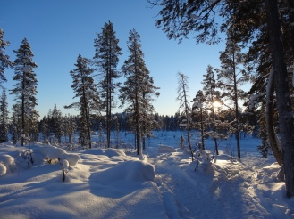 Waist-deep snow
