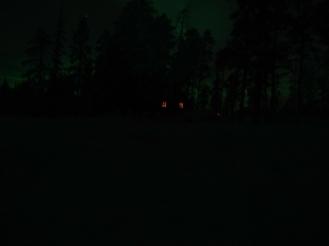 Our first glimpse of the aurora borealis