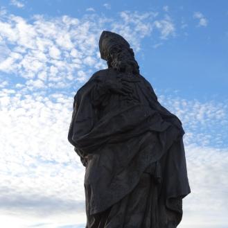Statue of St Friedrich on Alter Mainbrücke
