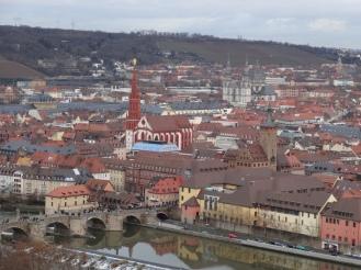 Würzburg seen from Festung Marienberg