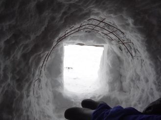 Bart spent a night in this igloo